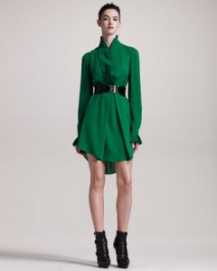 alexander mcqueen green dress