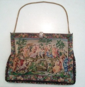 Antique tapestry handbag