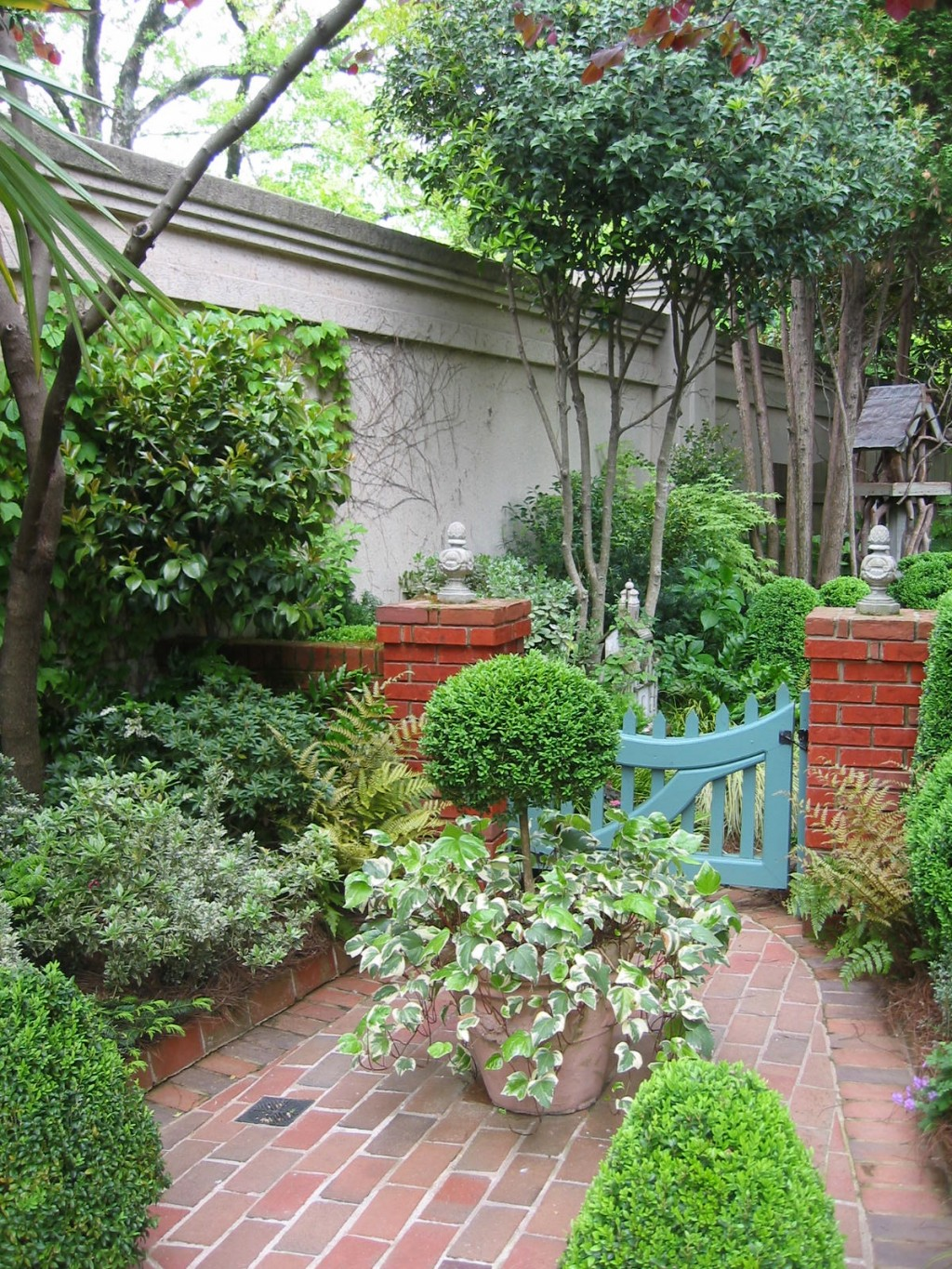 courtyard garden with gate