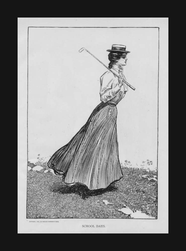 gibson girl plays golf